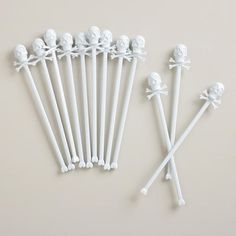 One of my favorite discoveries at WorldMarket.com: Skull Stirrers, Set of 12