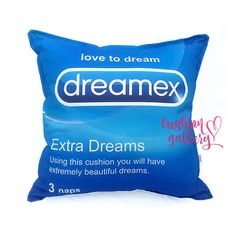 Handmade Funny Decorative Cushion as Durex Pastiche