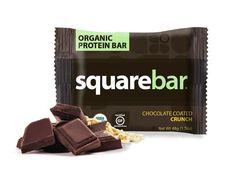 Squarebar Organic Protein Bar - Chocolate Coated Crunch - 1.7 oz - Case of 12
