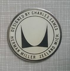 Herman Miller Eames Lounge Shell Chair Mid Century Vintage Furniture Foil Label #HermanMiller