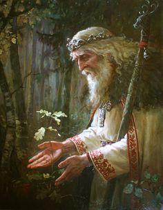 Бог Святобор (Святибор) - славянская картина художника Андрея Шишкина