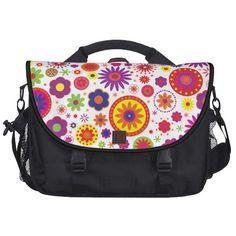 #Hippy #Rainbow #Flowers #Laptop #Bag