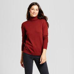 Women's Turtleneck Sweater - A New Day Brown Xxl