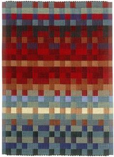 I love the way the blocks of color affect my eyes. Beautiful rep weave by Kelly Marshall weaving