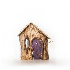 Secret Cottage Purple Door, Small Trees, Fairy Houses, Deep Purple, Door Handles, Cottage, Shapes, Metal, Outdoor Decor