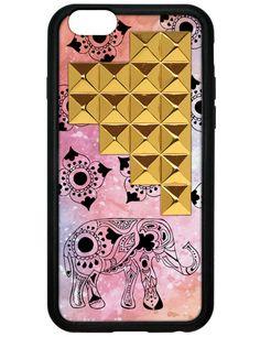 Wilflower Elephant Gold Pyramid iPhone 6 Case