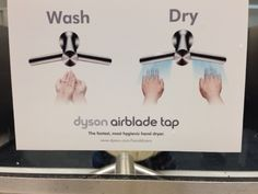 Dyson faucet cleans and drys.