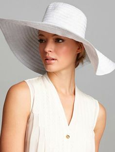 Shop for August Accessories Metallic Ribbon Floppy Hat at ShopStyle. 0dd23940765
