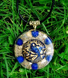 Lapis Lazuli Orgone Chi Pendant Talisman - EMF Protection and Energy Healing -  New age crystal healing