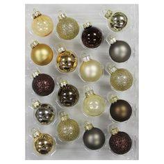 18Ct Metallic Mix Glass Christmas Ornament Set - Wondershop™ : Target
