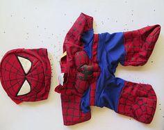 Build a Bear Spiderman Outfit//Build a Bear Clothes?/Spiderman Build a Bear - Edit Listing - Etsy