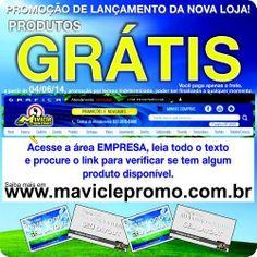 É a partir de amanhã 04/06, produtos de graça no novo site, www.maviclepromo.com.br  #mavicle #gratis