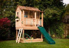 Playhouses - Little Squirt Playhouse with Sandbox - 6'x6' - OLT