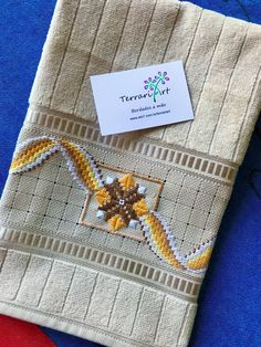Hardanger Embroidery, Embroidery Designs, Diy And Crafts, Reusable Tote Bags, Crochet, Cross Stitch Embroidery, Bath Towels & Washcloths, Geometric Embroidery, Crochet Ornaments