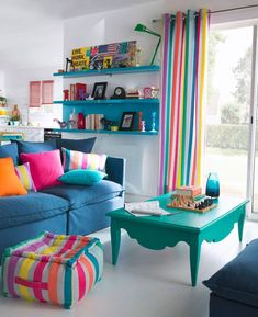 70 Fantastic Summer Living Room Decor Ideas – Home Dekor Living Room Decor Colors, Colourful Living Room, Living Room Designs, Bedroom Decor, Bedroom Plants, Decor Room, Living Rooms, Home Interior, Interior Design