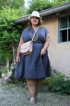 b08a14da4ed81 Le blog mode de Stéphanie Zwicky » Blog Archive »   Cotton dress  . Plus  Size ...