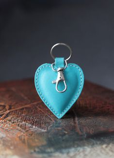 New cute keychain. Leather keychain. Heart. Womens by secondstudio