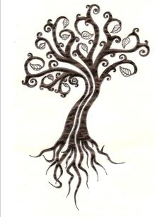 tree of life - i like the idea of starting small then each year adding more onto the leaves and roots in spirals