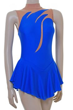 Robe de patineuse - Bleu royal en lycra / Bodystocking PATINAGE / robe danse | Sports, vacances, Patinage sur glace, hockey | eBay!