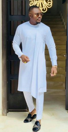 Mens Style Discover African white clothing for menAfrican white outfit for men african fashion for men African Wear Styles For Men, African Shirts For Men, African Dresses Men, African Attire For Men, African Clothing For Men, African Suits, African Style, African Women, Nigerian Men Fashion