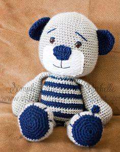 Simple Stitches by Rachelle: {mr. navy bear, crochet teddy bear}