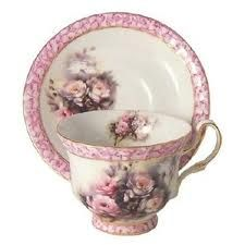 how beautiful! my favorite so far!Kashmir Rose Collection :: The British Marble- Kashmir Rose Collection, hand decorated porcelain by Betty Platner. Tea Cup Set, My Cup Of Tea, Tea Cup Saucer, Tea Sets, Teapots And Cups, Teacups, Café Chocolate, Vintage Tea, Shabby Vintage