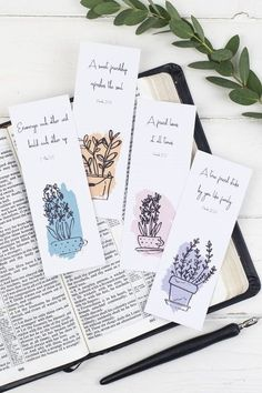 Creative Bookmarks, Cute Bookmarks, How To Make Bookmarks, Handmade Bookmarks, Bookmarks Quotes, Free Printable Bookmarks, Paper Bookmarks, Handmade Books, Handmade Gifts