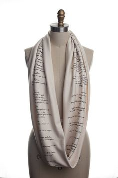 Romeo & Juliet Book Scarf - Infinity Scarf   Storiarts - literary apparel - LOVE it!