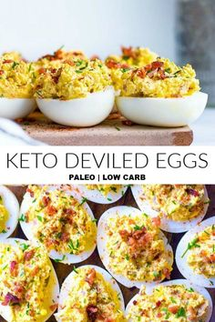 keto snacks on the go ; keto snacks on the go store bought ; keto snacks easy on the go ; keto snacks to buy ; keto snacks for work Paleo Deviled Eggs, Deviled Eggs With Bacon, Scrambled Eggs, Aperitivos Keto, Comida Keto, Keto Meal Plan, Meal Prep Low Carb, Keto Dinner, Keto Snacks