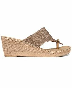 White Mountain Beachball Wedge Thong Sandals - Espadrilles & Wedges - Shoes - Macy's