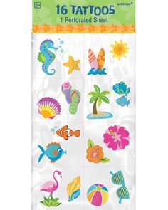 Amscan Hawaiian Summer Luau Party Tattoo Pack), Multi Color, x ** For more information, visit image link. (This is an affiliate link and I receive a commission for the sales) Pool Party Favors, Luau Party, Beach Party, Fake Tattoos, Cool Tattoos, Cute Things From Japan, Plastic Belt Buckle, Party Tattoos, Summer Tattoo
