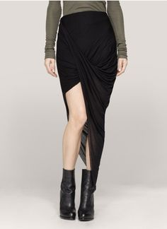 Helmut Lang - Asymmetric draped skirt