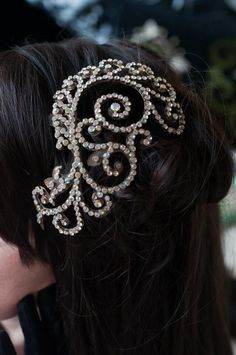 Tiara Feather headband vintage headband antique wedding pearl bride bridesmaid diamanté hair comb www.sheenaholland.com