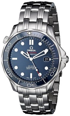 Amazon.com: Omega Men's O21230412003001 Seamaster Analog Display Automatic Self-Wind Silver-Tone Watch: Omega: Clothing