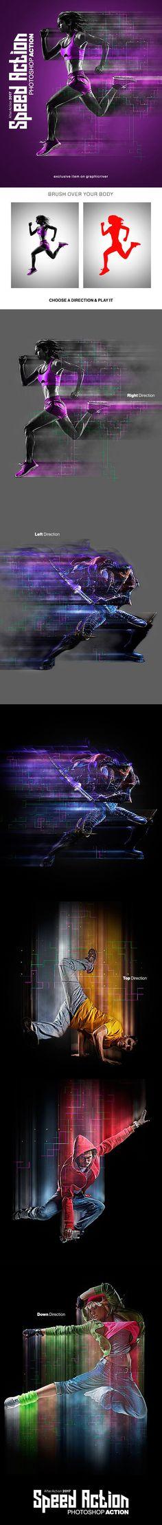 Speed Photoshop Action — Photoshop ATN #photoshop #cinema