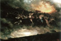La cacería salvaje: Åsgårdsreien (1872) de Peter Nicolai Arbo.
