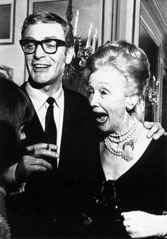 Michael Caine Laughing Hollywood Party, Vintage Hollywood, Hedda Hopper, Music Film, Steve Mcqueen, Celebs, Celebrities, Vintage Hairstyles, Eye Glasses