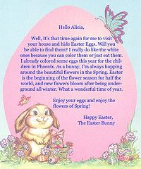 Cute - letter for Easter template