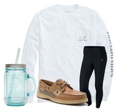 """Tired"" by texasgirlfashion ❤ liked on Polyvore featuring Vineyard Vines, NIKE, Sperry Top-Sider and ALADDIN"