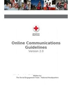 The latest iteration of the American RedCross' social media policies: Personal Social Engagement Guidelines 2.0