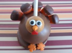 Thanksgiving turkey cake pop with feet! Thanksgiving Deserts For Kids, Thanksgiving Cake Pops, Thanksgiving Turkey, Thanksgiving Recipes, Holiday Desserts, Holiday Treats, Holiday Recipes, Jolly Holiday, Holiday Fun