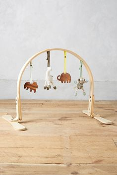 Finn + Emma Play Gym, Organic Cotton and Natural Wood with Hand-Knit Rattle and Teether Stroller Toys for Baby Boy or Girl – Jungle - Natural Playroom Decor, Kids Decor, Best Baby Shower Gifts, Baby Gifts, Little Girls Playroom, Large Embroidery Hoop, Play Gym, Baby Boy Or Girl, Fantastic Baby