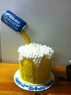 What! A budlight cake!!!