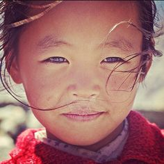 """The exiled"" - Tibetan girl in the village of Marpha, Mustang"