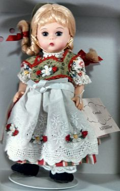 Collectible Memories Porcelain Doll With Hannah Not In Box