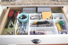 Day #1 ~ Getting Organized Challenge | The Junk Drawer. Turn that junk drawer into a purposeful space that works for you and your family.