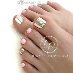 Sin nombre Pedicure Colors, Pedicure Designs, Pedicure Nail Art, Toe Nail Art, Manicure And Pedicure, Pedicure Ideas, Pretty Toe Nails, Cute Toe Nails, Pretty Toes
