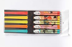 Color arts bamboo chopsticks with Japanese traditional ladies