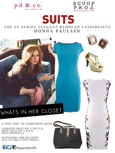 Donna Paulsen of Suits Donna Suits, Donna Paulsen, Suits Tv Shows, Corporate Wear, Turquoise Dress, Business Attire, Work Attire, Girl Boss, Style Icons