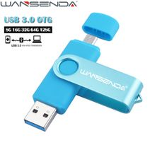 WANSENDA USB 3.0 OTG Pen Drive Rotatable USB Flash Drive 8gb 16gb 32gb 64gb Flash Drive for Android Mobile Pendrive 128GB  Price: 9.57 USD